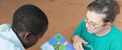 Volunteer with Children in Togo